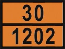 Табличка оранжевого цвета